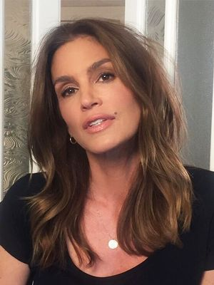 Cindy Crawford Poses in Underwear and Thigh-High Boots at Age 50