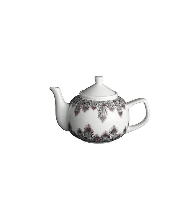 CB2 Peacock Hearts Teapot