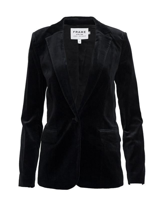 Frame Le Velvet Black Mod Blazer