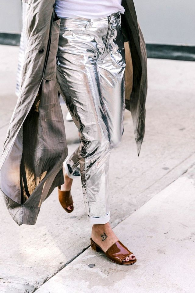 Would You Wear Metallic Jeans?