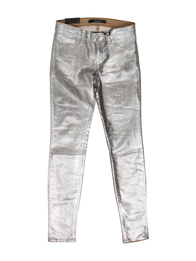 J Brand Metallic Skinny Jeans