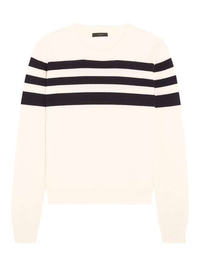 J.Crew Liv Striped Merino Wool Sweater