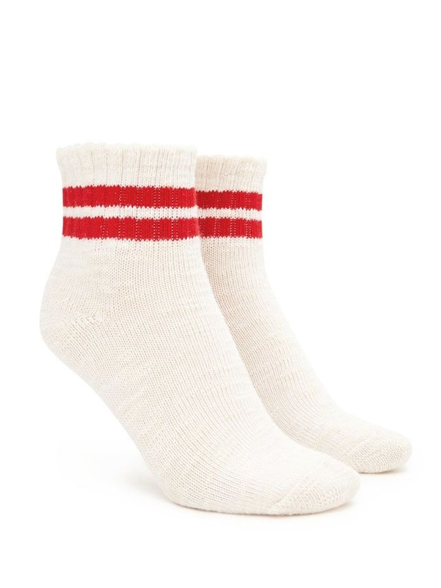 Forever21 Marled Knit Varsity Crew Socks