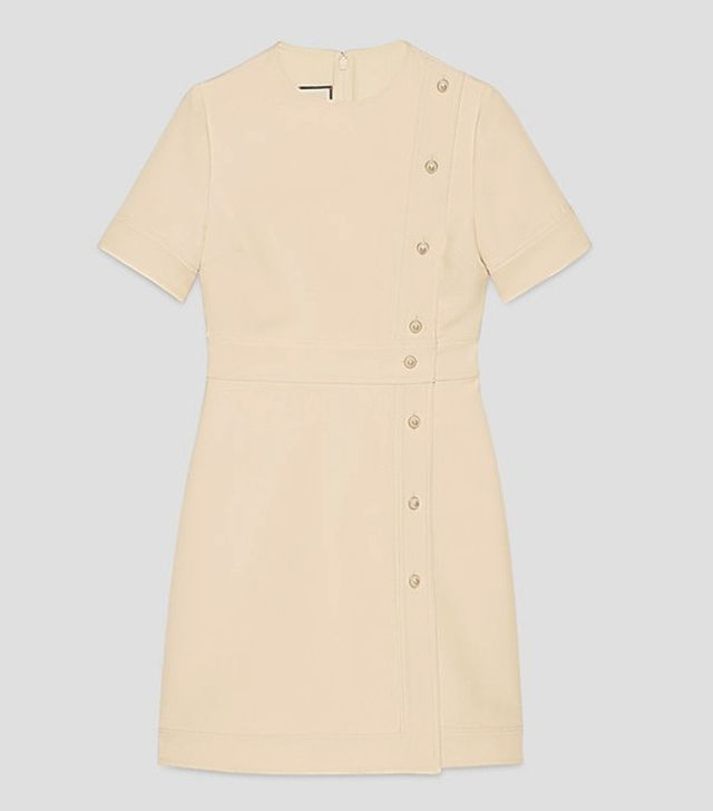 Gucci Wool-Silk Short Sleeve Dress