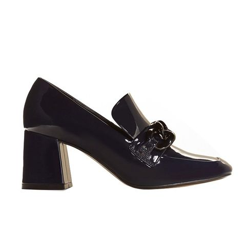 Patent Heeled Loafer