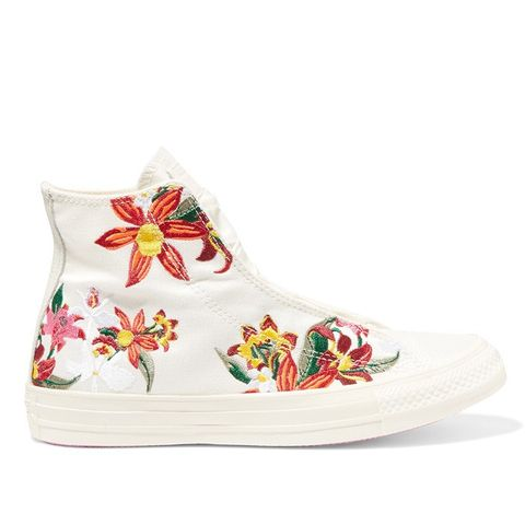 + PatBo Chuck Taylor Embroidered Canvas High-Top Sneakers