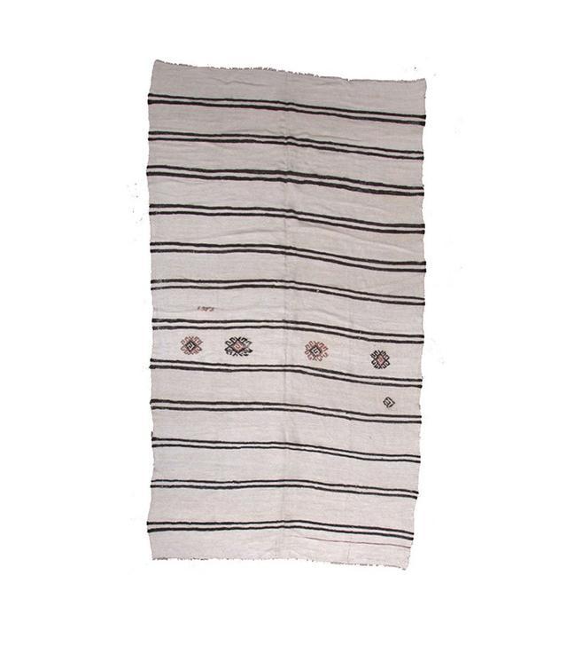 Lawrence of La Brea Kender Hemp Kilim in Wool