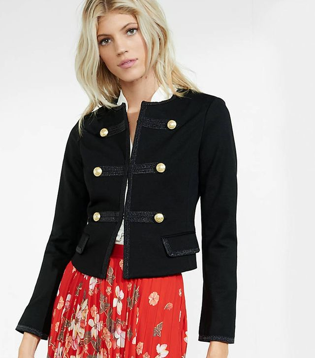 Express Embellished Military Jacket