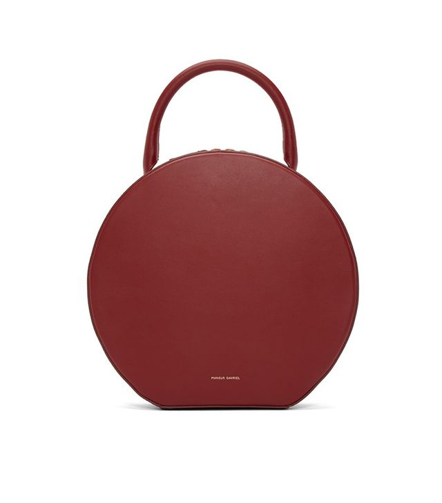 Mansur Gavriel Red Leather Circle Bag