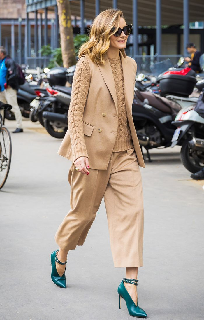 Olivia Palermo camel outfit