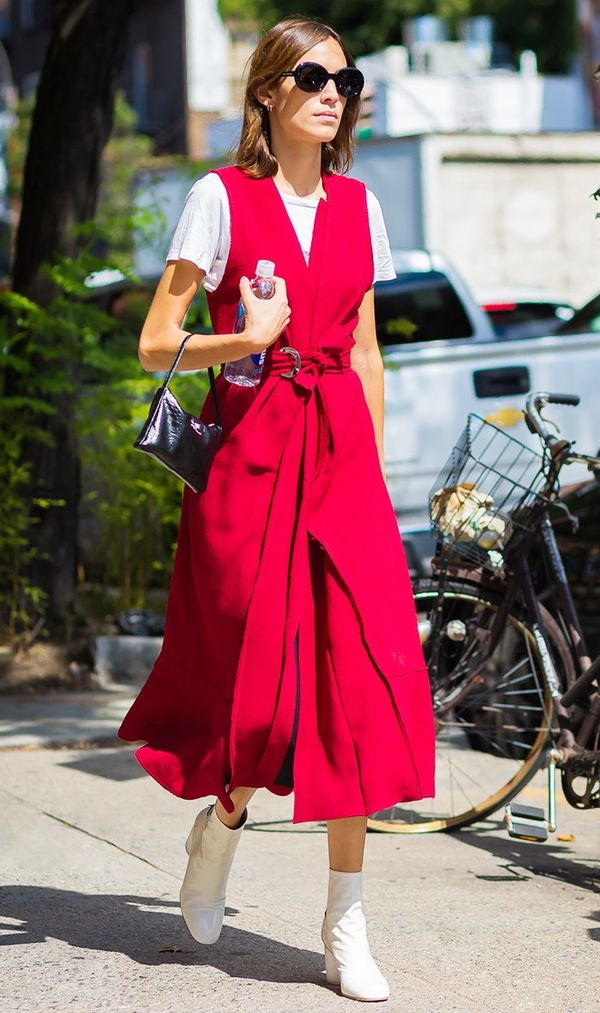 alexa chung red dress