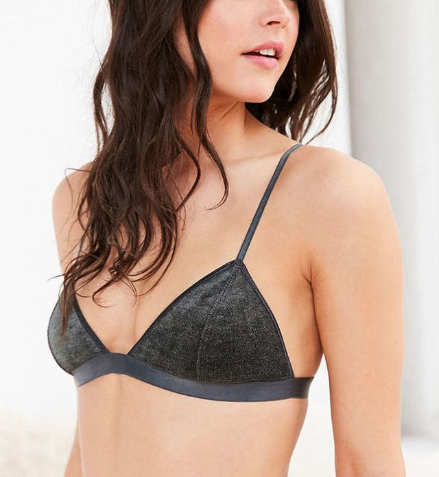 Urban Outfitters Out From Under Velvet Jennifer High Point Bra