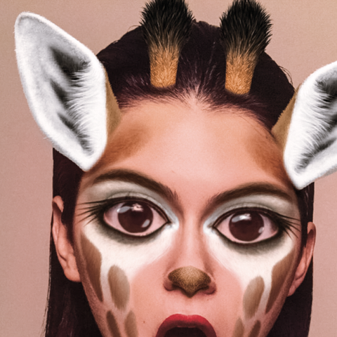 Kendall Jenner Did an Entire Magazine Photo Shoot in Snapchat Filters