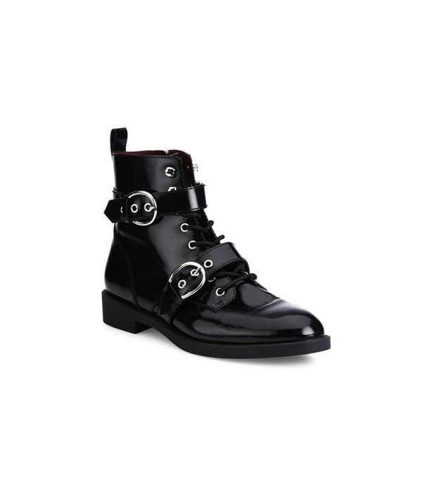 Marc Jacobs Taylor Double-Strap Leather Booties