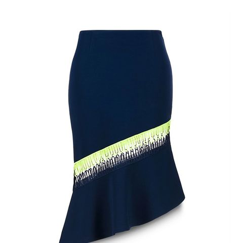 Asymmetric Skirt with Loop