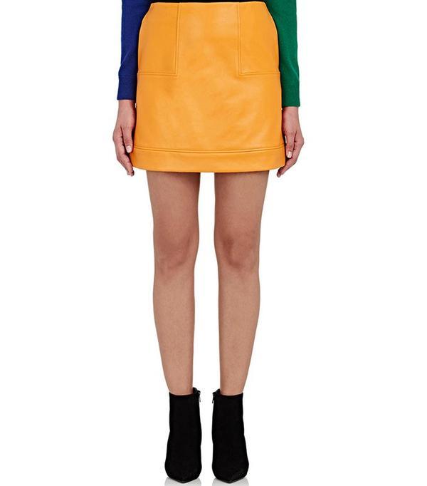 Lisa Perry Leather Miniskirt