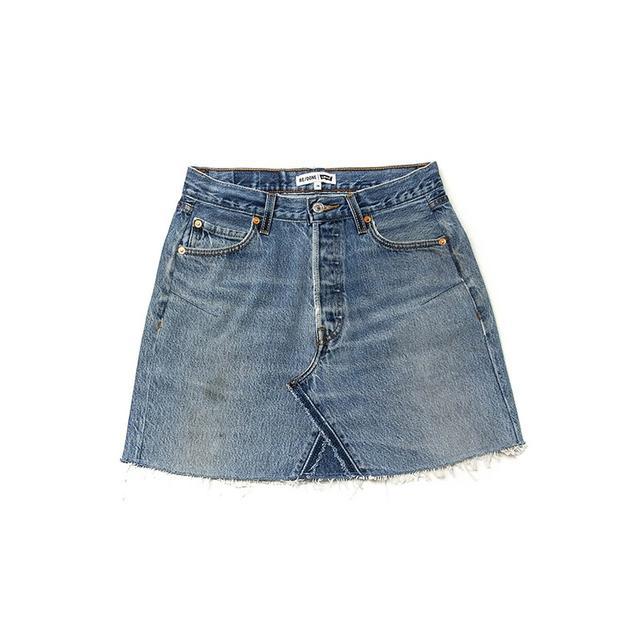 Re/Done Denim Skirt