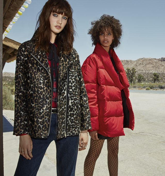Mango Animal Design Jacket($80) and Quilted Feather Coat($130)