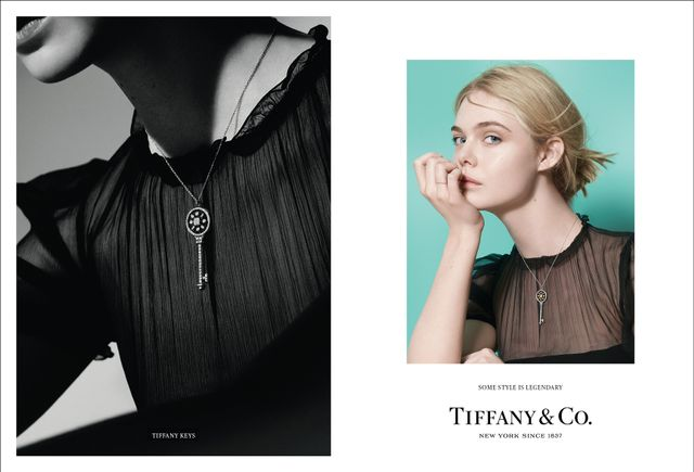 Grace Coddington's new campaign for Tiffany & Co. A/W 16, featuring Elle Fanning.
