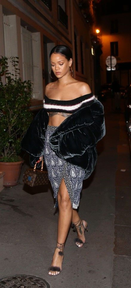 Rihanna Paris September 2016 Altuzarra Skirt Aquazzura Shoes