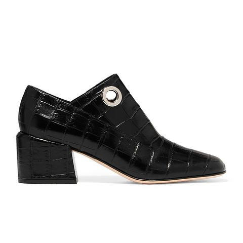 Marlow Croc-Effect Leather Pump