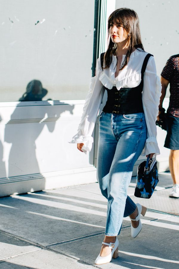 Day 1: Dust off your white shoes and wear them with crisp denim.