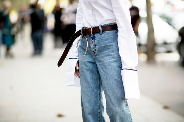Day 12: Make a jeans and shirt combo even better with a statement belt.