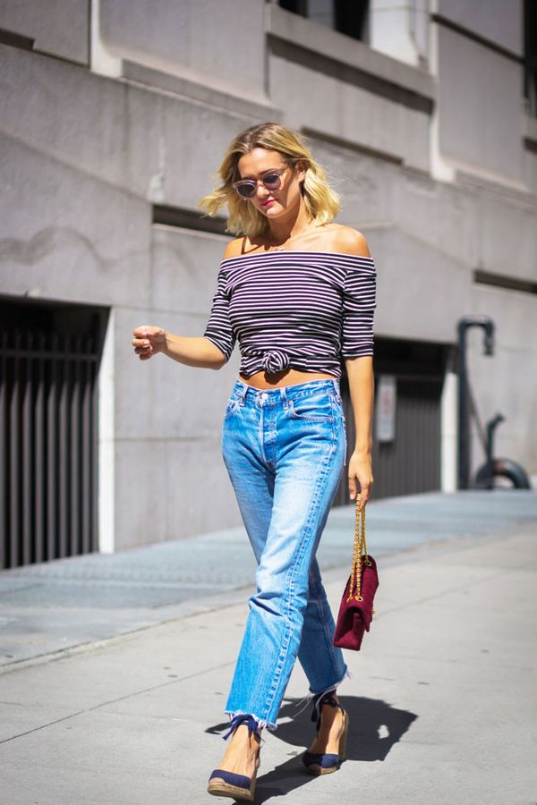 Day 28: Tie your off-the-shoulder top into a knot like you did in the '90s.