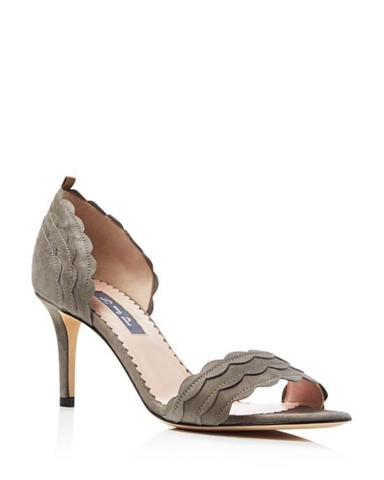 SJP by Sarah Jessica Parker Bobbie Scalloped Mid Heel Pumps