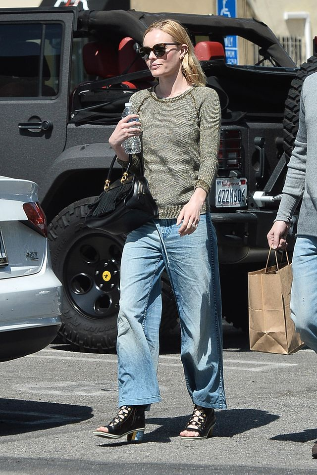Kate Bosworth Wearing Relaxed Jeans Street Style