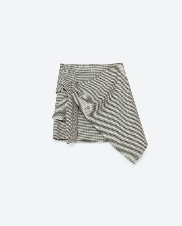 Zara Houndstooth Check Skirt