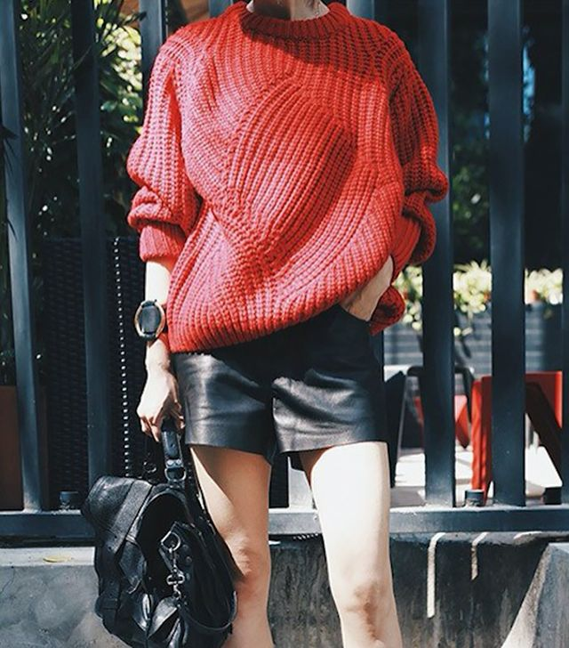 Genuine People Oversized Red Sweater