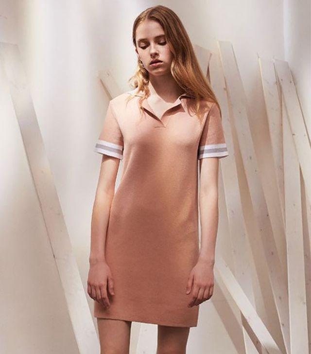 Genuine People Short Sleeve Mini Collar Dress