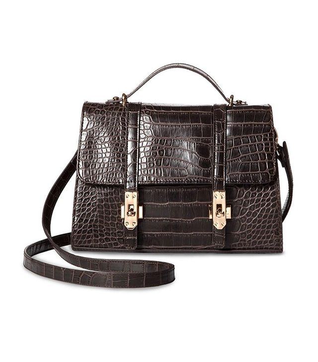 Who What Wear Mini Croc Top-Handle Bag