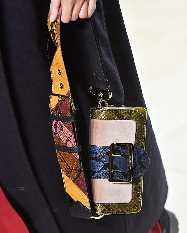 For fall, designers adorned their bags with edgy guitar straps, including Burberry's Christopher Bailey.
