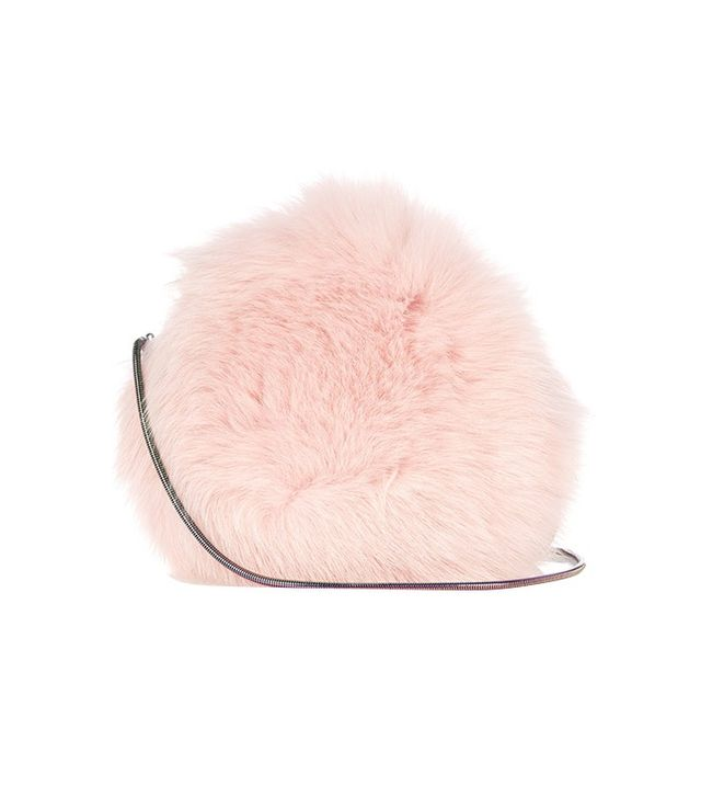 Diane von Furstenburg Love Power Fox-Fur Bag