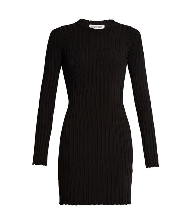 Elizabeth and James Penny Long-Sleeve Ribbed-Knit Dress