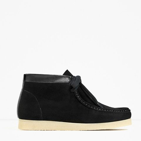 Flat Crepe Ankle Boots