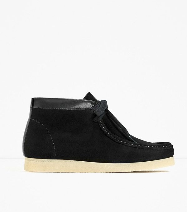 Zara Flat Crepe Ankle Boots
