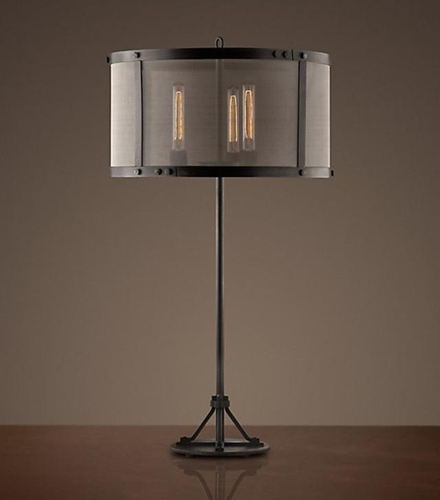 Restoration Hardware Riveted Mash Table Lamp