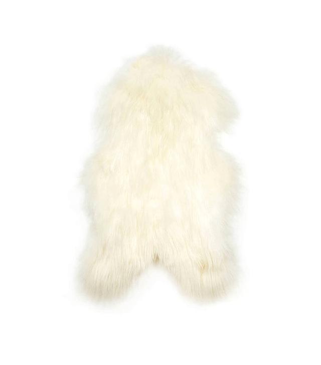 Black Sheep Natural White Icelandic Sheepskin