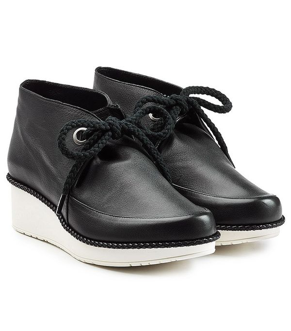 Robert Clergerie Leather Lace-Up Ankle Boots