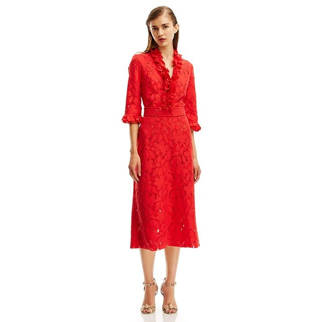 Scanlan Theodore Double Lace Dress