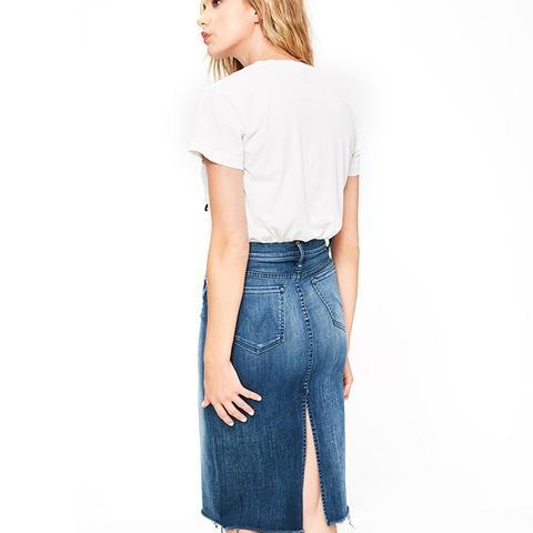 Back Slit Midi Skirt