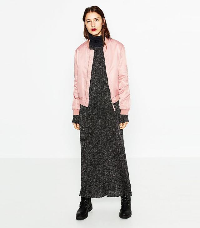 Zara Quilted Bomber Jacket