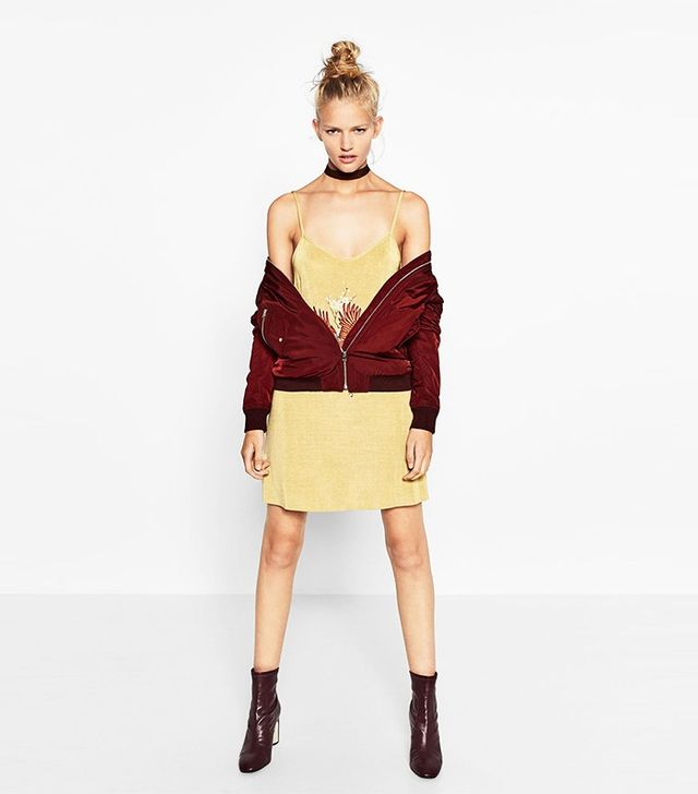 Zara Bomber Jacket with Pockets