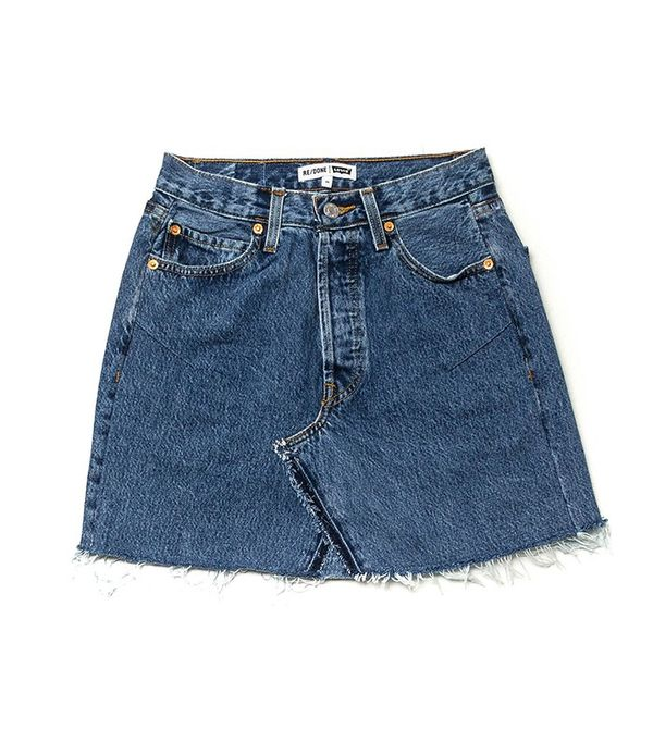 RE/DONE | Levi's The High Rise Mini Skirt