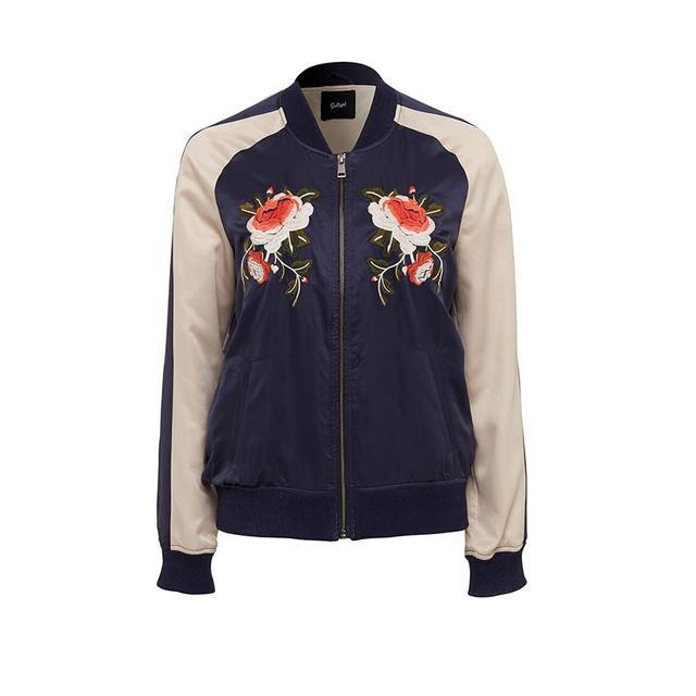 Sportsgirl Embroidered Bomber Jacket
