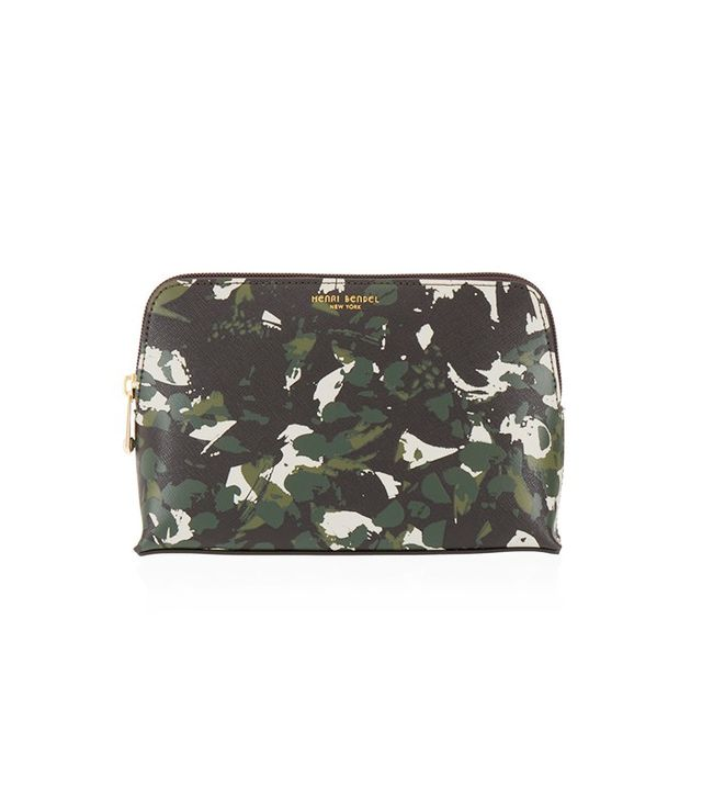 Henri Bendel West 57th Floral Camouflage Cosmetic Case