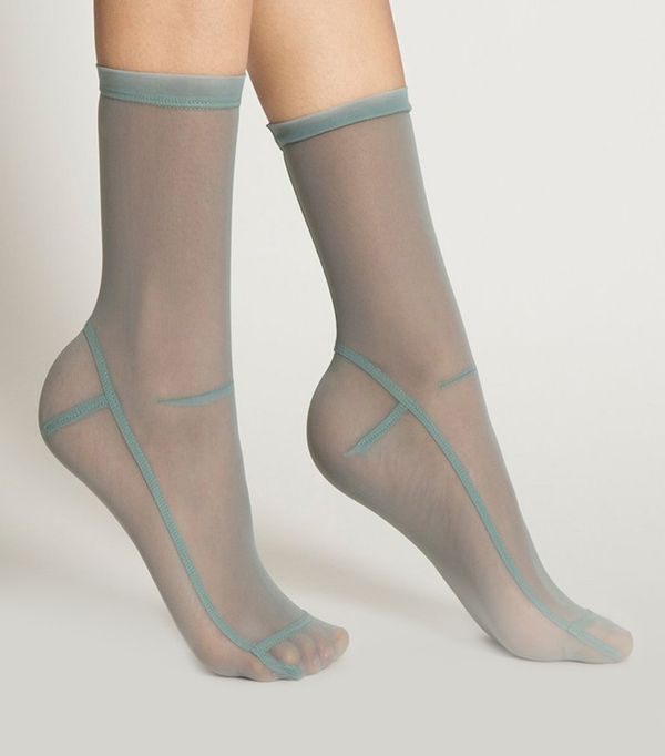 Darner Socks in Powder Blue